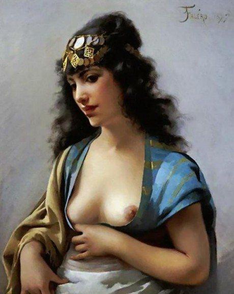 , oil painting, artist, luis ricardo valero, art, nude, sexual,