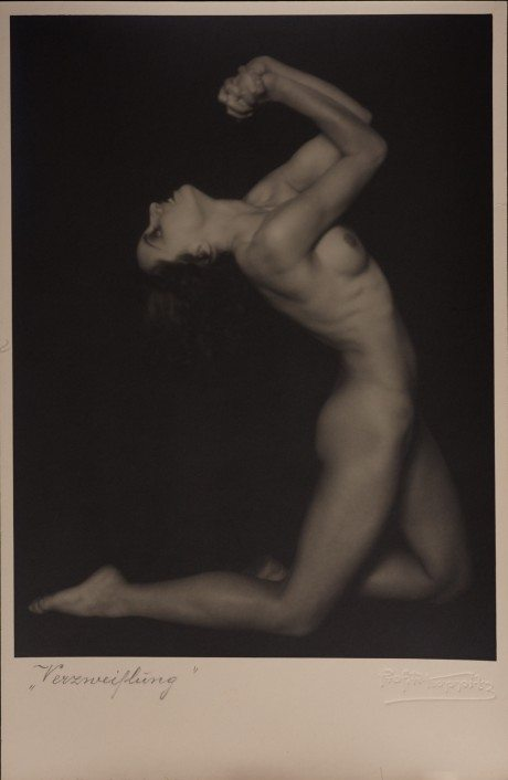 Rudolf Koppitz, Despair, 1928, figurative, photography, nude, art deco, postcard