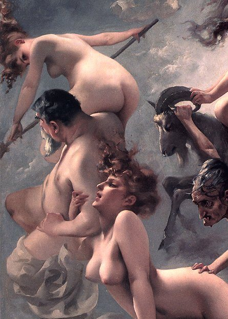 The Vision of Faust.detail, painting, oil painting, artist, luis ricardo valero, art, nude, sexual,