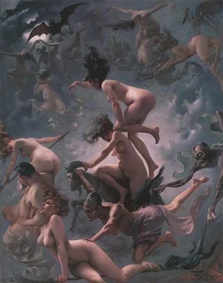 The Vision of Faust, painting, oil painting, artist, luis ricardo valero, art, nude, sexual,