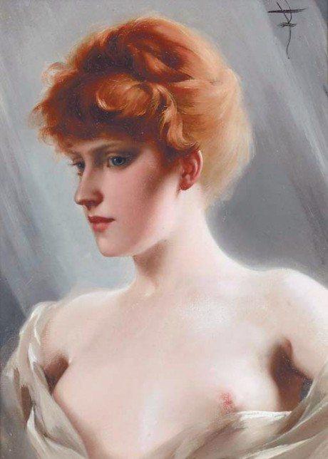 The Artists model, painting, oil painting, artist, luis ricardo valero, art, nude, sexual,