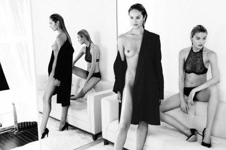 Candice Swanepoel, Martha Hunt, model, fashion, photography, nude, naked, mirror, reflection, editorial, Paola Kudacki, 25 Magazine, No.3