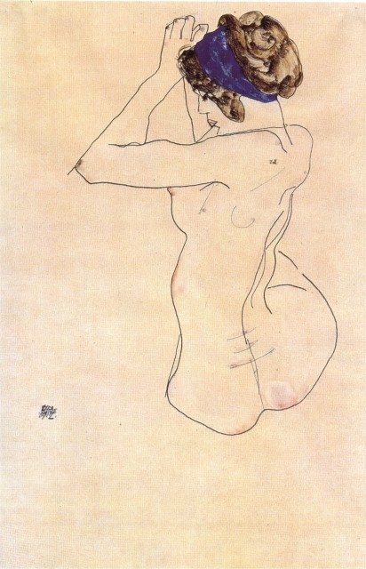 egon schiele, sketch, art, illustration, erotic, nude, naked, vienna