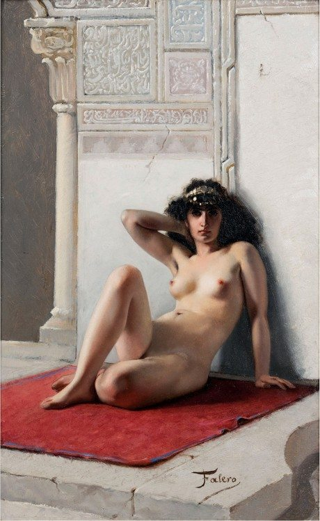 la favourite, painting, oil painting, artist, luis ricardo valero, art, nude, sexual,