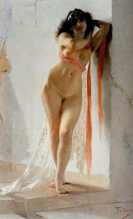orient 2, painting, oil painting, artist, luis ricardo valero, art, nude, sexual,