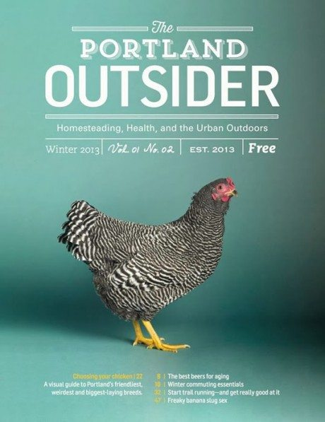 portland outsider, magazine, magazine cover, lifestyle, crafts, outdoors, layout, graphic design, typography