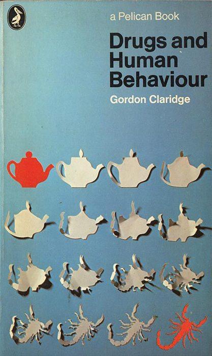 Drugs and Human Behaviour, Pelican, pelican book, cover design, book cover, book design