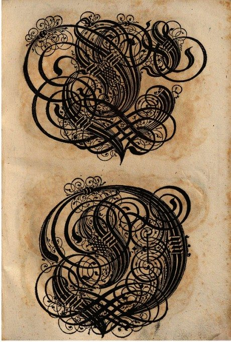 Paulus Franck, 1601, calligraphy, typography, letters, alphabet, Gothic, A Treasure Trove of Latin and German Uppercase Letters,