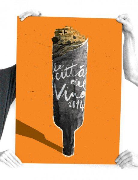 Città del vino, posters, EB Grafica, typography, wine, alcohol