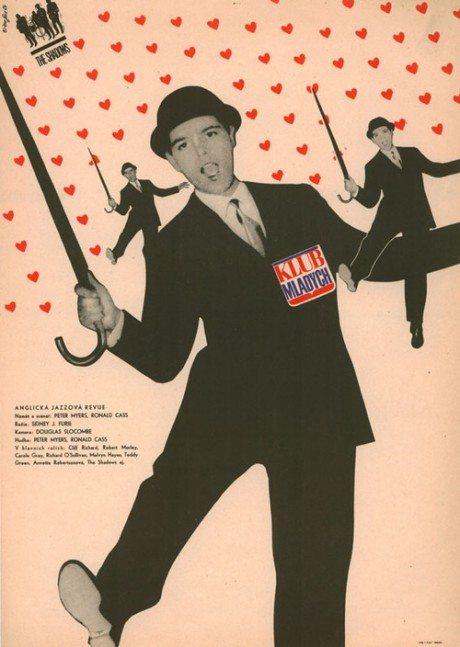 1964, Czech, poster, The Young Ones, director, Sidney J. Furie, UK, 1961, designer, Zdenek Ziegler, film, film poster, movie poster, cliff richard