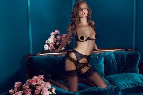 Marlijn Hoek, model, photography, underwear, lingerie, bra, knickers, suspenders, topless, Agent Provocateur