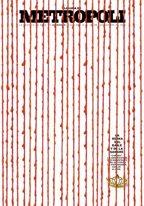 La Luna De Metropoli, magazine, magazine cover, layout, december, typography