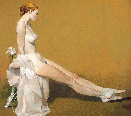 robert mcginnis, nude, naked, creamy, illustration, illustrator, pulp