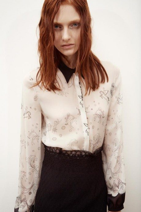 sharon wauchob, cookbook, pre-autumn/fall 2014, sheer, lace, see-through, fashion, collection, red-head, red hair