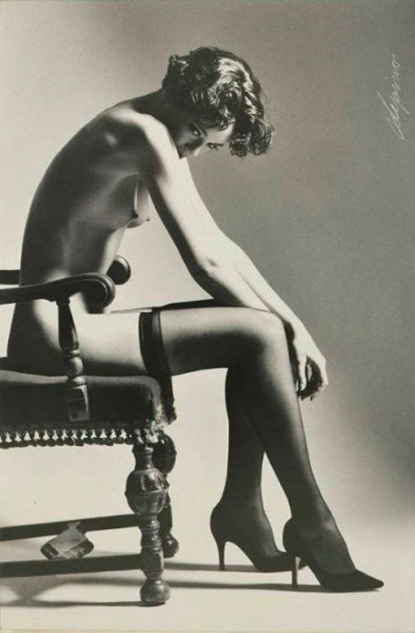 Stephan Lupino, resting, photography, 1994, nude, naked, stockings,