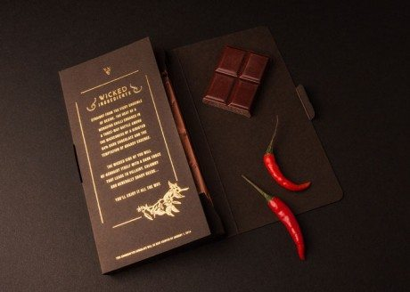 wicked and wonderful, shed, chocolate, shed brand innovation, packaging, gold foil, branding, identity,