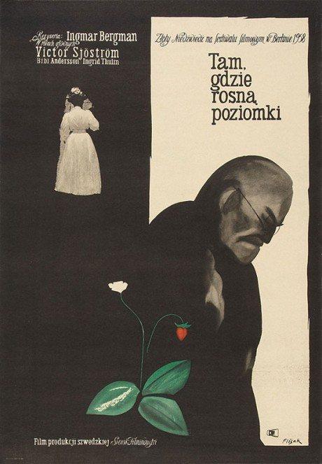 jerzy flisak, artist, designer, illustrator, film, film poster, movie poster, poland, polish, wild strawberries