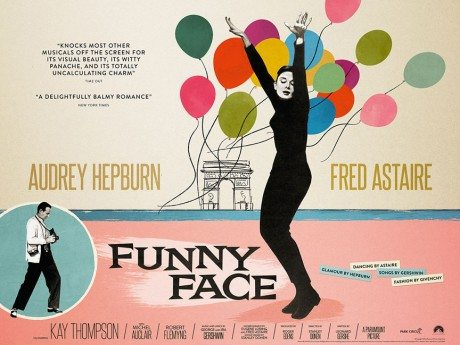 poster, film, film poster, movie poster, illustration, Audrey Hepburn, movie, Funny Face, director, Stanley Donen, USA, 1957