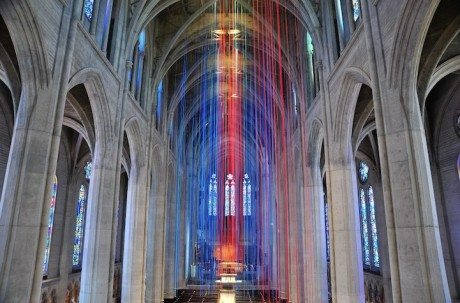Graced With Light, Grace Cathedral, San Francisco, ribbon, Anne Patterson, cathedral, church, christian, religion, god, Jesus, God,