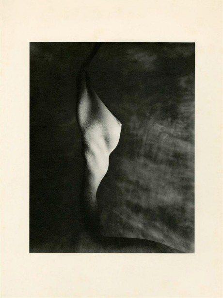 Profile of Bust, 1947, Erwin Blumenfeld, photography, nude, figurative