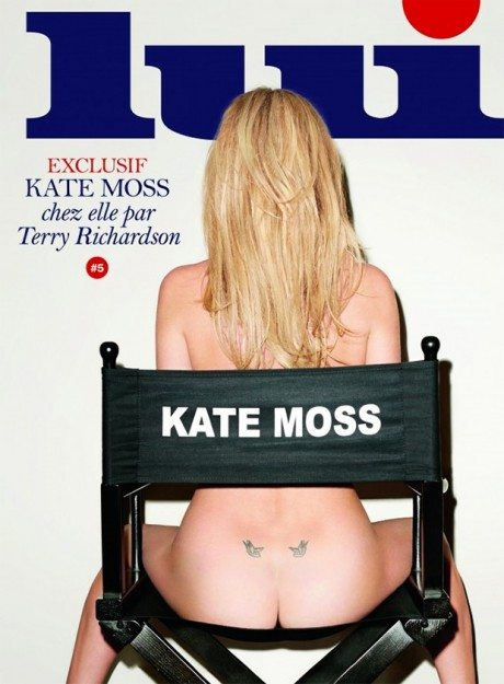 Preview, Kate Moss, Lui, March 2014, magazine, magazine cover, photography, fashion, naked, nude, butt,  Terry Richardson