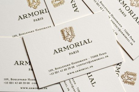 armorial, armorial boutique, armorial paris, engraving, die-stamping, business cards, stationery, bespoke, stationers, business card, business card design, personal stationery, luxury, high end, artisan, heritage printing, heritage print processes, wedding stationery, wedding invitation, invite, invitation