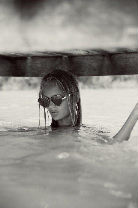 Photography, fashion, swimwear, bikini, editorial, blue lagoon, pro surfer, Hanalei Reponty, model, Emma Stern Nielsen, Wildfox swimwear