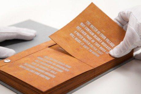 The Drinkable Book, water is life, water, book, design, Brain gartside,