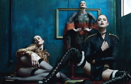 Amber Heard, Steven Klein, W, June/July 2014, magazine, w magazine, fashion, model, photography, editorial, stockings, suspenders, lingerie