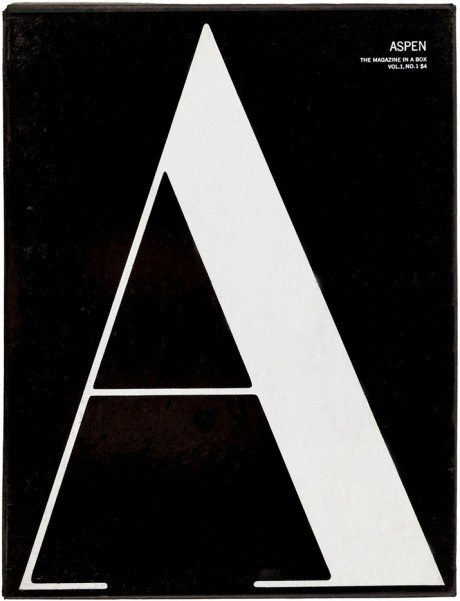 aspen, aspen magazine, phyllis johnson, editor, three dimensional magazine, film, books, vinyl, super 8 film, warhol, sontag, cage, magazine