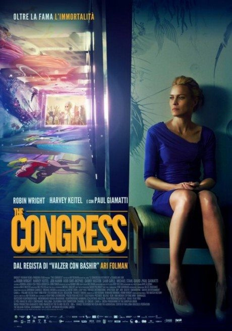 the congress, director, ari folman, actress, robin wright, robin penn wright, film, movie, movie poster, film poster, poster, illustration