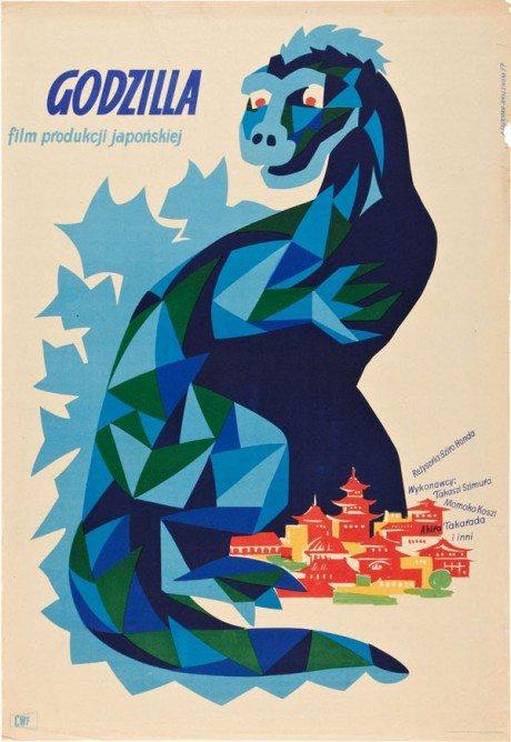 illustration, film poster, movie poster, movie poster,Godzilla, movie, Czechoslovakia, Poland, 1956, Czech, poster, original Godzilla, Ishirô Honda, Japan, 1954, Artist, František Kardaus, 1908-1986, 1957, Polish, poster, Godzilla, Ishirô Honda, Japan, 1954, Artist, Alicja Laurman-Waszewska, b. 1920, Polish, poster, Godzilla Vs. The Smog Monster, Yoshimitsu Banno, Japan, 1971, Designer, Zygmunt Bobrowski, b. 1932