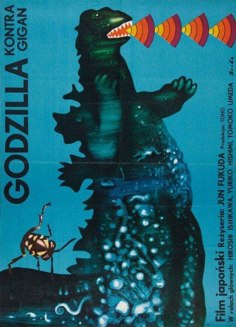 illustration, film poster, movie poster, movie poster,Godzilla, movie, Czechoslovakia, Poland, 1956, Czech, poster, original Godzilla, Ishirô Honda, Japan, 1954, Artist, František Kardaus, 1908-1986, 1957, Polish, poster, Godzilla, Ishirô Honda, Japan, 1954, Artist, Alicja Laurman-Waszewska, b. 1920, Polish, poster, Godzilla Vs. The Smog Monster, Yoshimitsu Banno, Japan, 1971, Designer, Zygmunt Bobrowski, b. 1932, Godzilla vs Gigan, Jun Fukuda, Japan, 1972, Romuald Socha, b. 1943