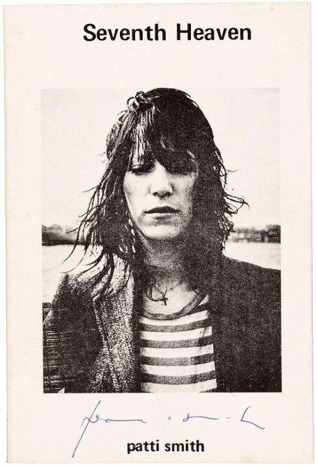 Judy linn, cover, artwork, rock, singer, songwriter, Patti Smith, 1972, book, poetry, Seventh Heaven, Publisher, Telegraph Books