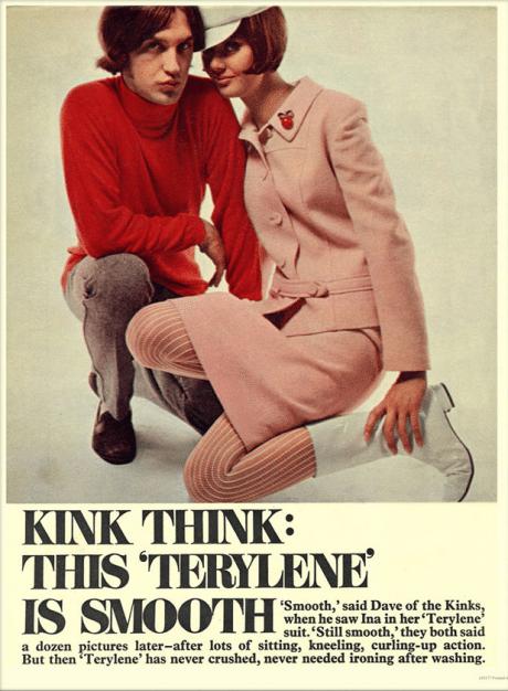 Terylene, fabric, advertising, 1960s, testimonial, music, Dave Davies, Kinks