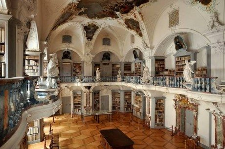 books, interior, architecture, library, monastery , St. Peter, Black Forest, Germany.