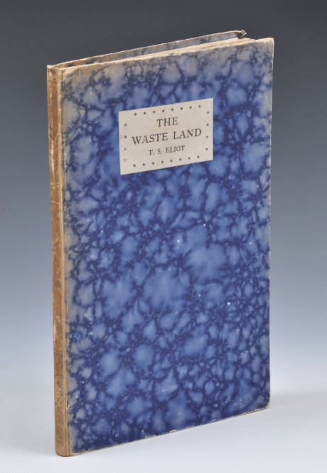 T. S. Elliot, The Waste Land, first edition, English, edition, book, 1923, publishing, poetry
