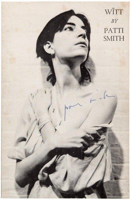 gotham book mart, cover, artwork, rock, singer, songwriter, Patti Smith, 1972, book, poetry, witt,