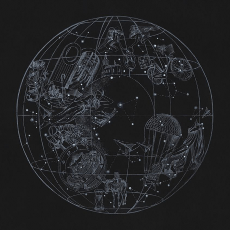 coldplay, sky full of stars, cover, ep cover, illustration