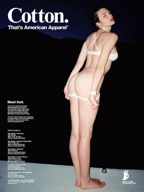 Kait Schram, model, fashion, advertising, american apparel, provocative, underwear, butt, bottom, naked, sexy