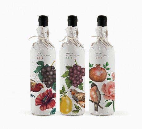 pure drops, bob studio, wine, food, bob studio, greece, athens, design, branding, logo, illustration, birds, fruit,