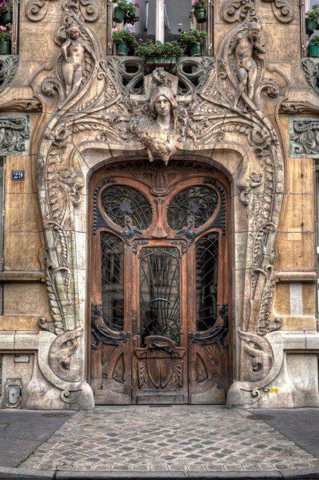 Maison Lavirotte, Paris, France, Jean-Baptiste Larrive, door, doorway, architecture, decorative, art nouveau