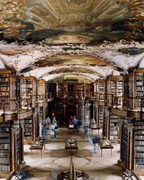 Stiftsbibliothek St. Gallen, 2001, Candida Höfer, architecture, interiors, interior architecture, photography