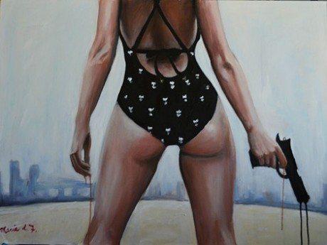 maria folger, painting, art, artist, sexy, pulp, pin-up