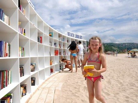atlas obscura, libraries on the beach, beach library, books, library, reading