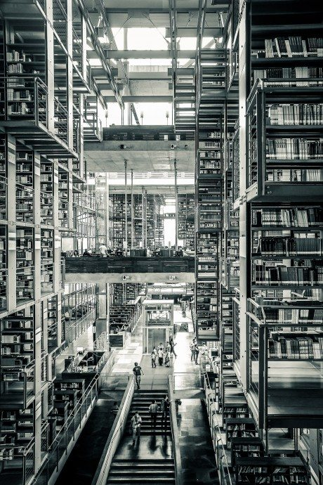 Biblioteca Vasconcelos, a. kalach, library, books, interior, photography