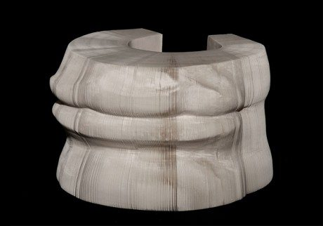 Greco-Roman-style, sculptures, layers of paper, artist ,Li Hongbo, Klein Sun Gallery, new york, greco-roman, porcelain, paper sculpture, stretchy, slinky, stretch, paper cut, paper layers, paper art, chinese, chinese lantern