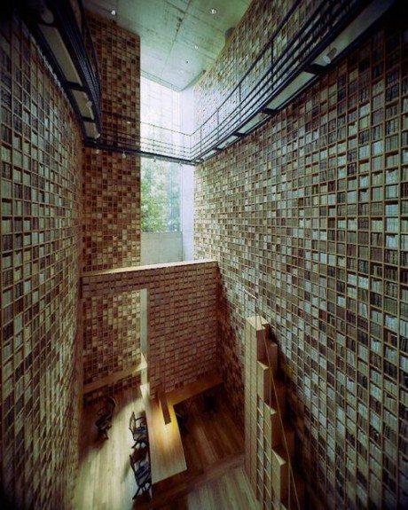 library, Tadao Ando, Shiba Ryotaro Memorial Museum, Osaka, Japanese, 20,000 books,  Japan, novelist