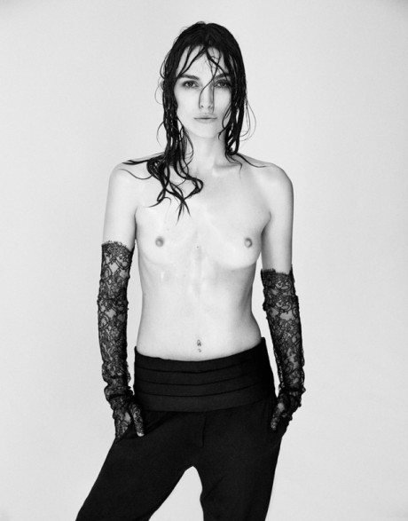 Keira Knightley, film, actress, fashion, topless, portrait, cover, Interview, magazine,  photography , Patrick Demarchelier