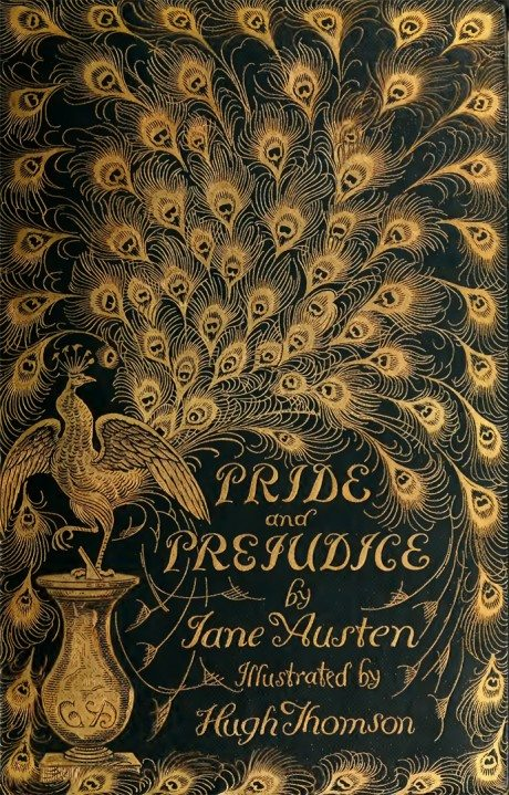 pride and prejudice, jane austin, book, book-binding, book cover, design, illustration, publishing